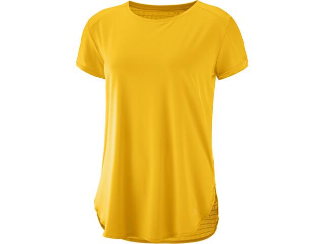 Salomon Comet Breeze T-shirt Femme, saffron